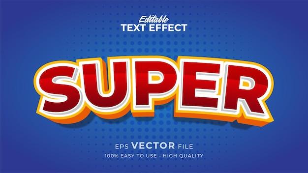 Effet de style de texte modifiable - thème de style de texte super rouge