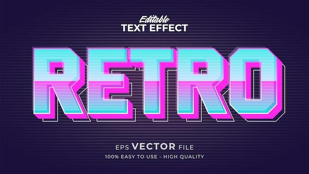 Effet de style de texte modifiable - thème de style de texte tech retro