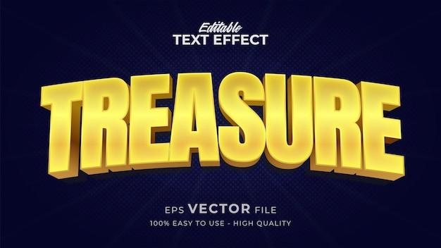 Effet de style de texte modifiable - thème de style de texte treasyre gold