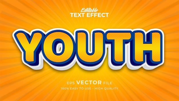 Effet de style de texte modifiable - thème de style de texte youth comic