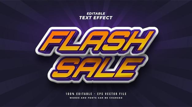 Effet de style de texte modifiable de vente flash