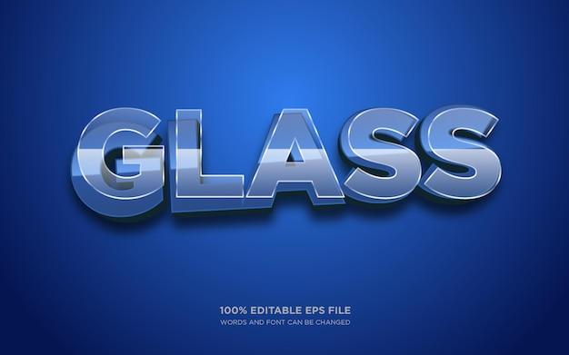 Effet de style de texte modifiable en verre 3d