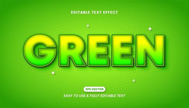 Effet de style de texte modifiable vert