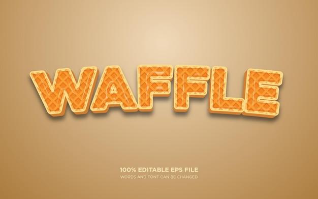 Effet de style de texte modifiable waffle 3d