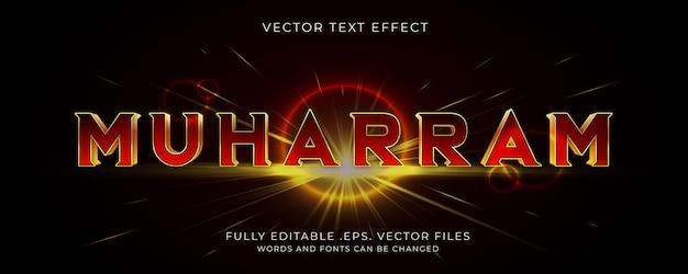 Effet de style de texte muharram modifiable