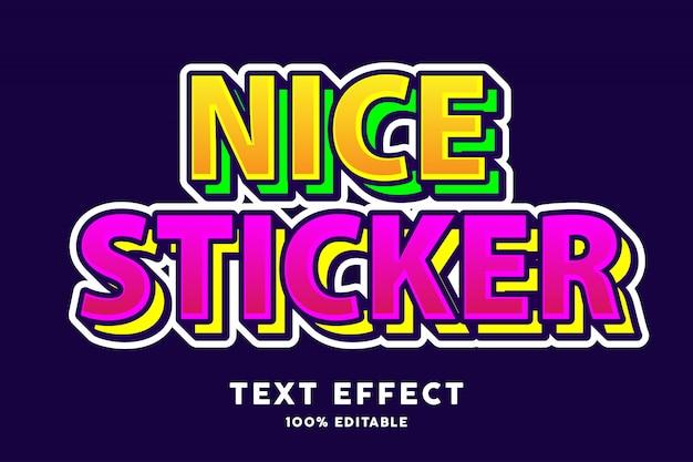 Effet de style de texte multicolore