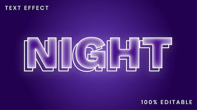 Effet de style de texte de nuit