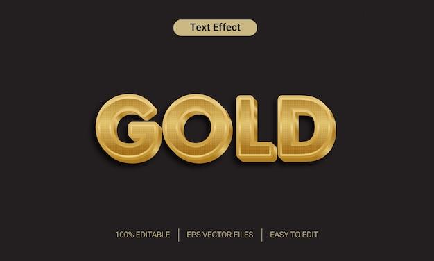 Effet de style de texte en or 3d