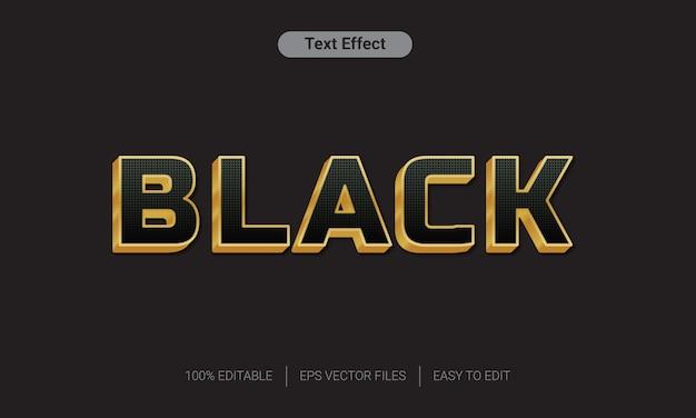 Effet de style de texte en or noir