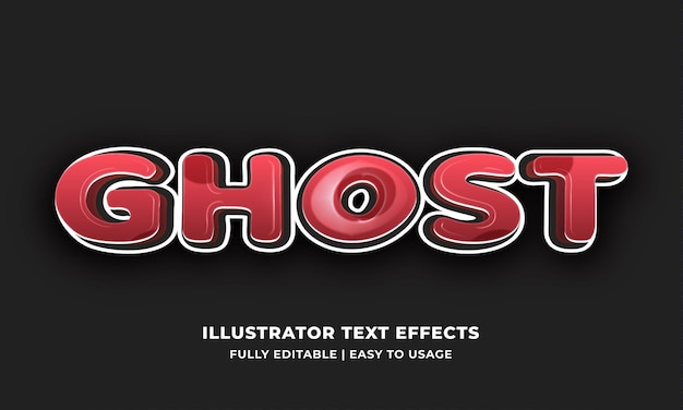 Effet de style de texte de police fantôme