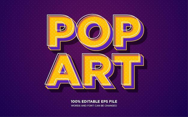 Effet de style de texte pop art