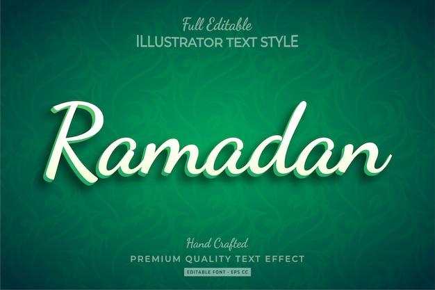 Effet de style de texte ramadan premium