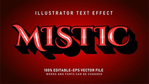 Effet de style de texte réaliste