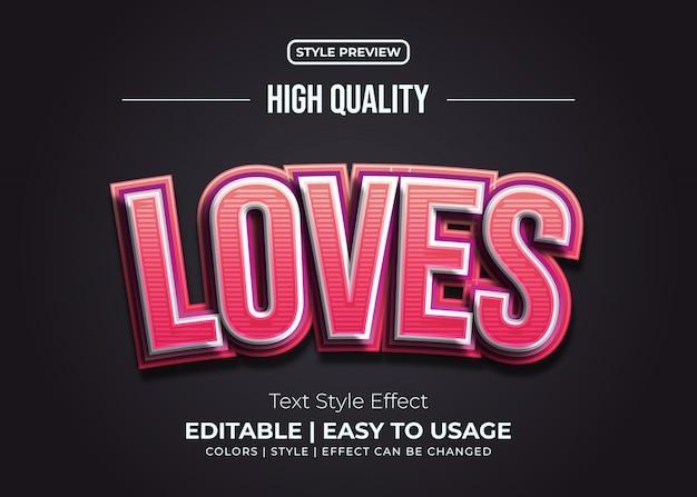 Effet de style de texte en relief rouge et rose avec texture de lignes