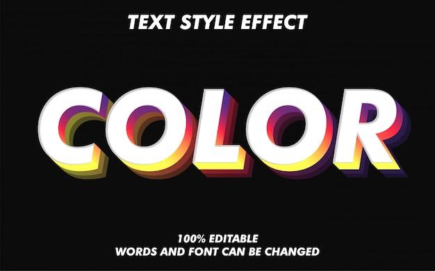 Effet de style de texte rétro et coloré vintage