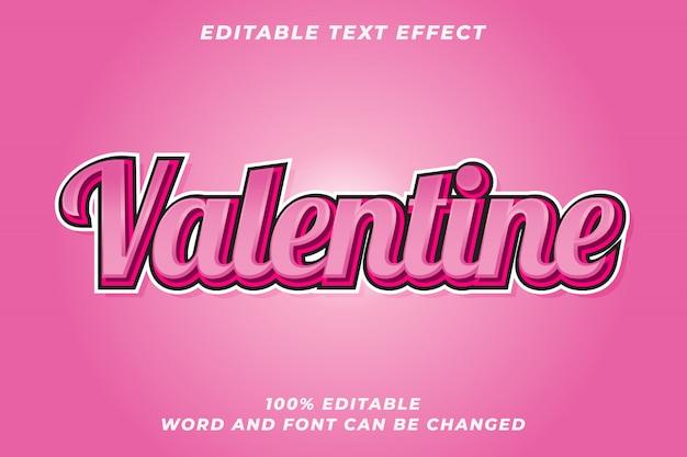 Effet de style de texte romantique valentine