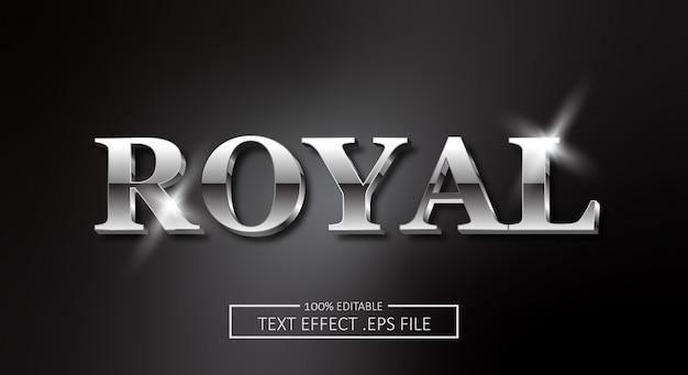 Effet de style de texte royal. style de police modifiable