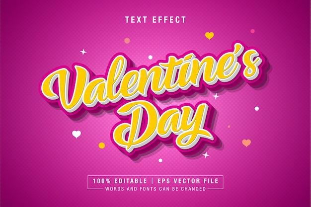 Effet de style de texte de la saint-valentin
