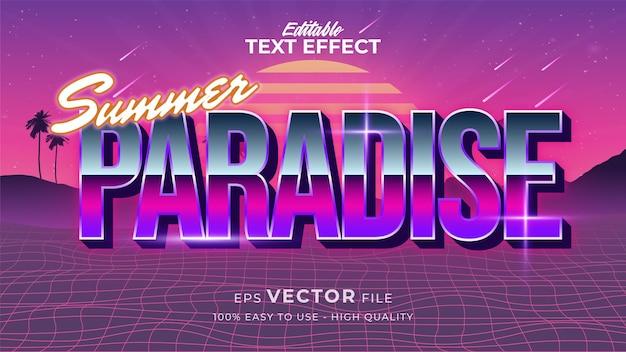 Effet de style de texte. texte d'été rétro dans le style grunge