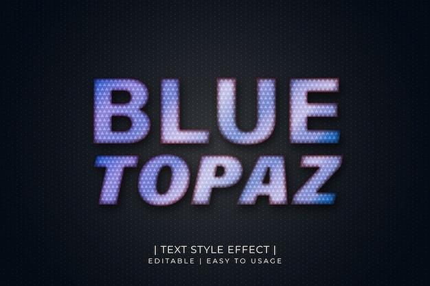 Effet de style de texte topaze bleue avec texture diamant et dégradé bleu