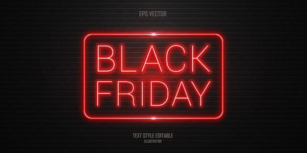 Effet de style de texte vendredi noir