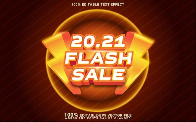 Effet de style de texte de vente flash