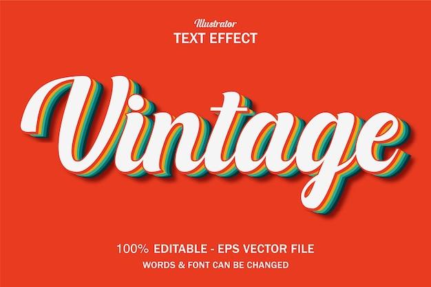 Effet de style de texte vintage rétro