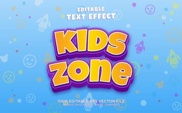 Effet de style de texte de zone enfants