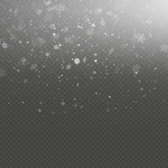Effet de superposition de neige de noël tombant.