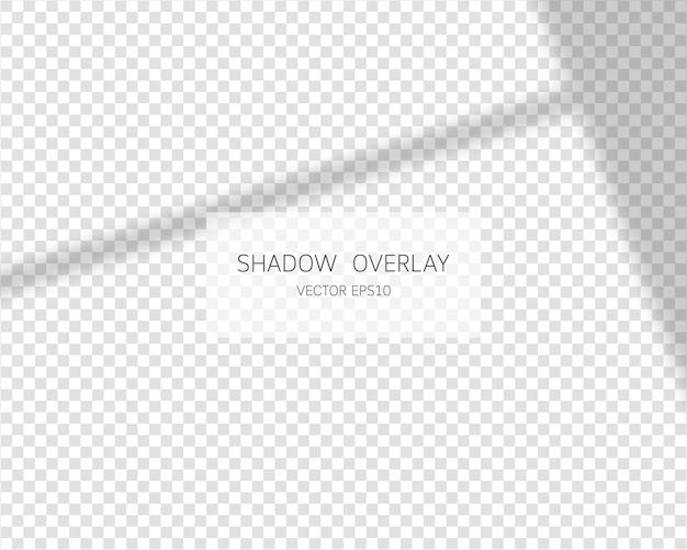 Effet de superposition d'ombre ombres naturelles de la fenêtre isolée sur fond transparent illustration