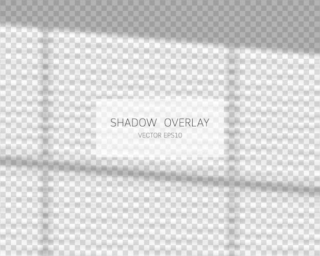 Effet De Superposition D'ombre. Ombres Naturelles De La Fenêtre Isolée Sur Transparent. Vecteur Premium