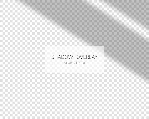Effet de superposition d'ombre. ombres naturelles de la fenêtre isolée.