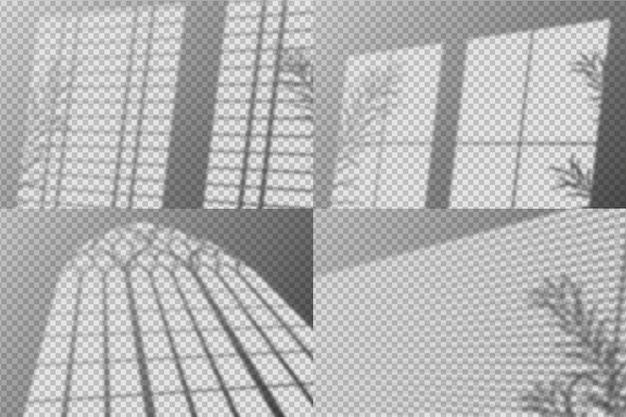 Effet de superposition d'ombres abstraites