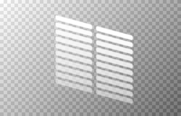 L'effet de la superposition d'ombres d'ombres de différents stores ombre de lumière réaliste de stores