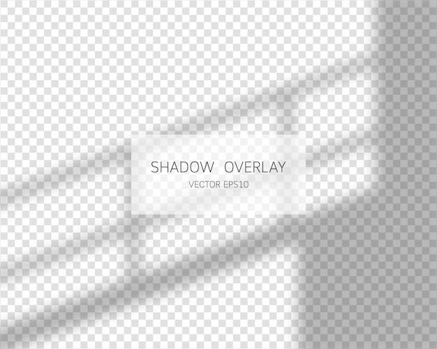 Effet de superposition d'ombres. ombres naturelles de fenêtre sur fond transparent. illustration.