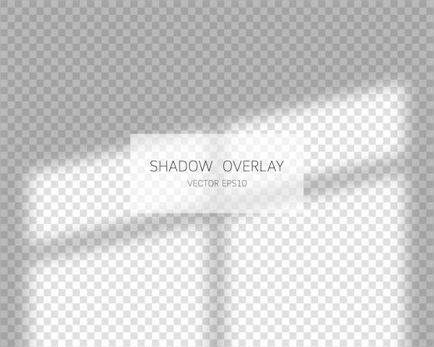 Effet de superposition d'ombres. ombres naturelles de fenêtre isolé sur fond transparent. illustration.
