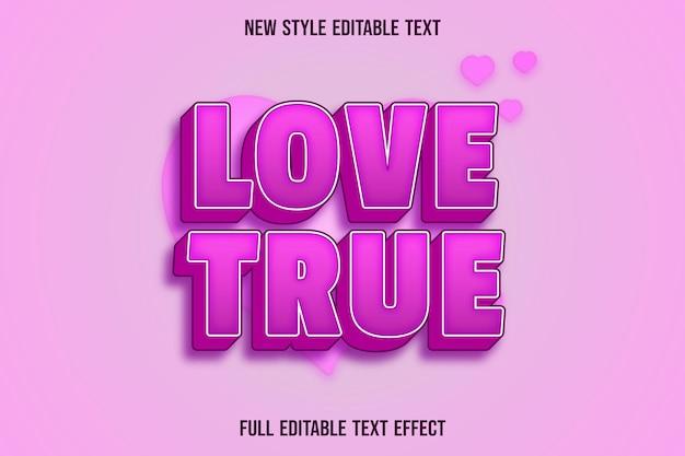 Effet de texte 3d amour vrai