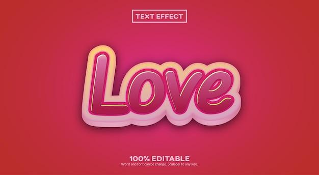Effet de texte 3d d'amour