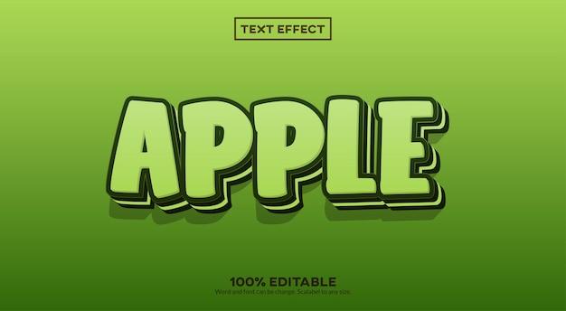 Effet de texte 3d apple