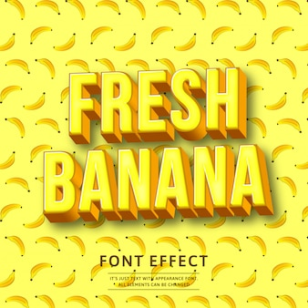 Effet de texte 3d banane