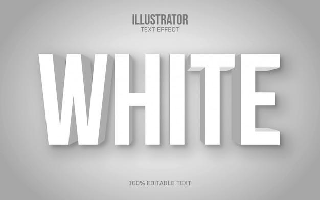 Effet de texte 3d blanc