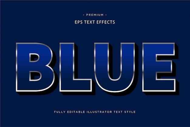 Effet de texte 3d bleu