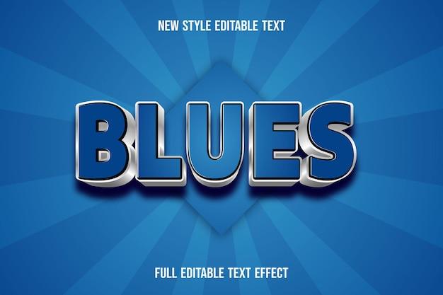 Effet de texte 3d blues couleur bleu et argent