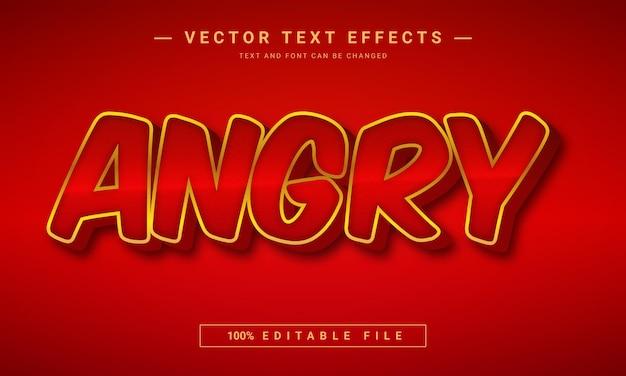 Effet de texte 3d en colère