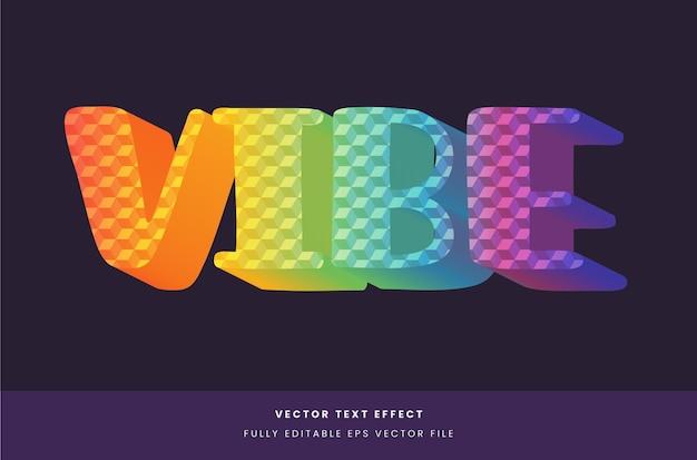 Effet de texte 3d coloré avec motif