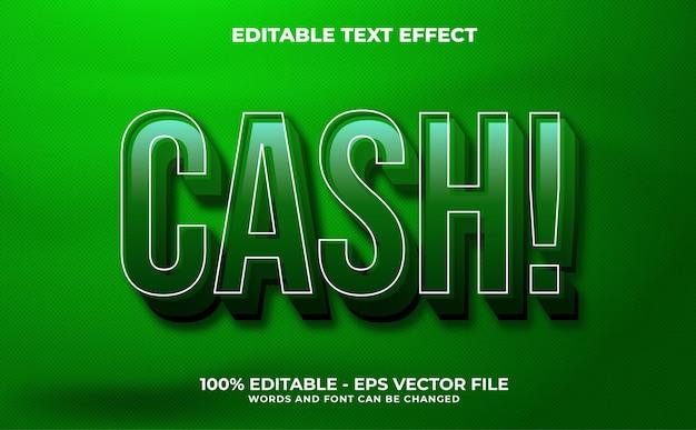 Effet de texte 3d concept de tonnerre vecteur premium