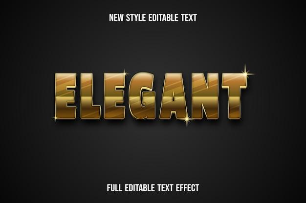 Effet de texte 3d couleur élégante or et noir