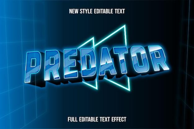 Effet de texte 3d couleur de prédateur dégradé bleu et vert