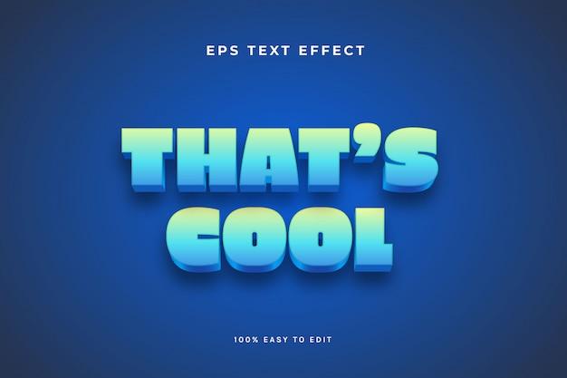 Effet de texte 3d dégradé bleu vert