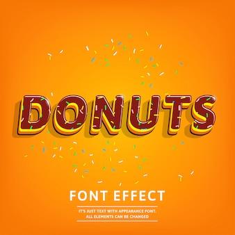 Effet de texte 3d donuts avec garniture